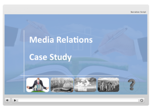 Business Communication This communication course was created in Articulate Storyline. It was designed using case studies and scenario-based learning in order to help learners gain more real-world experience and practice analysis of challenges to come up with solutions.