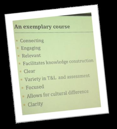 exemplary course
